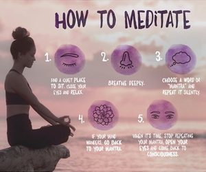 fitness and meditation image