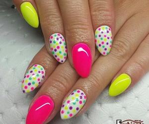 dots, manicure, and nail art image