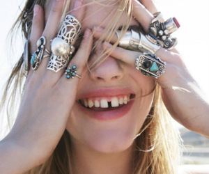 rings, model, and smile image