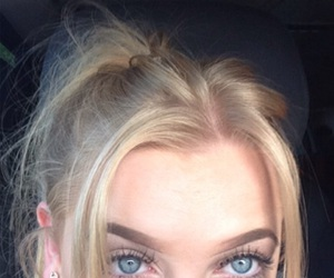 blonde hair, blue eyes, and eyebrows image