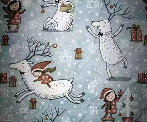 christmas, backgrounds, and snow image