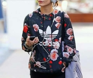 adidas, vanessa hudgens, and flowers image