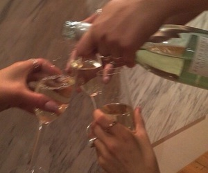 champagne, drinks, and squad image