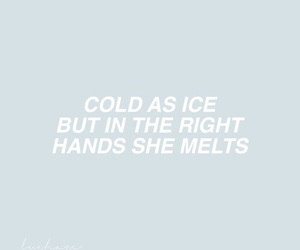 heart, ice, and quotes image
