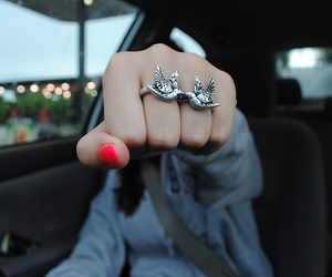 photography, girl, and ring image