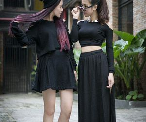 black, style, and kfashion image