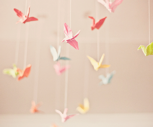 origami, bird, and vintage image