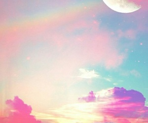 colourful, wallpaper, and moon image