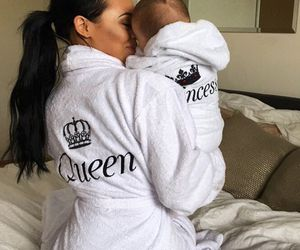 Queen, princess, and baby image