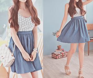 dress, kfashion, and blue image
