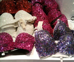 bra, pink, and sparkle image