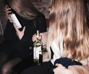 alcohol and girl image