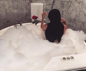 bath, luxury, and hair image