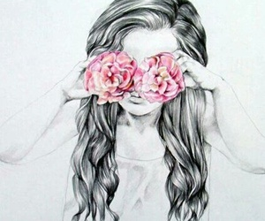 drawing, roses, and beautiful as fuck image