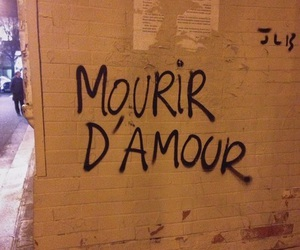 love, french, and wall image