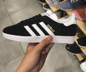 adidas, black, and gazelle image
