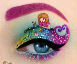 eye, makeup, and art image