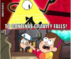 gravity falls, bill cipher, and mabel image