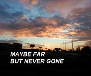 quote, Lyrics, and never be alone image