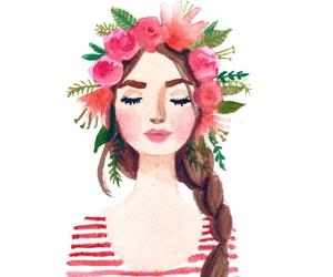 art, boho, and flowers image