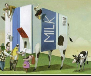 cow, family, and milk image