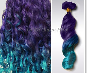 blue wig, etsy, and turquoise hair image