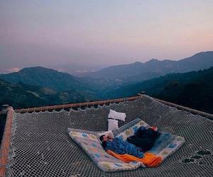 mountains, nature, and sleep image