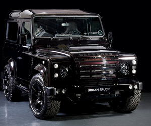 land rover, defender ultimate version, and urban truck image