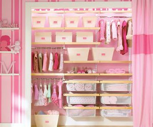 pink, closet, and baby image