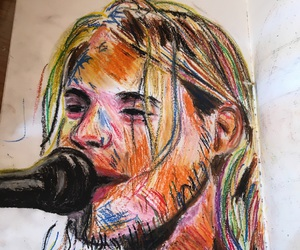 90's, art, and cobain image