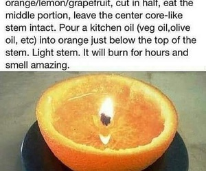 candle, grapefruit, and hack image