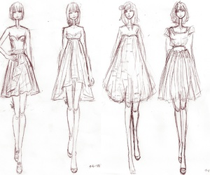 drawing, fashion, and sketch image