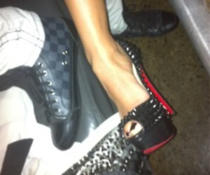 heels, louboutins, and shoes image