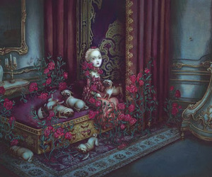 Benjamin Lacombe, marie antoinette, and roses image