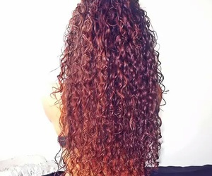curly hair and girl image