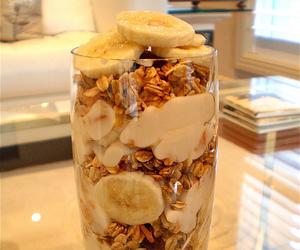 food, banana, and healthy image