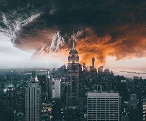 city, travel, and storm image
