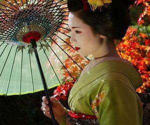 japan, geisha, and kimono image