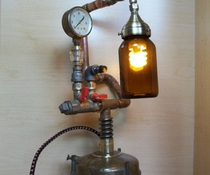 diy lamps, lamp art, and upcycled lamps image