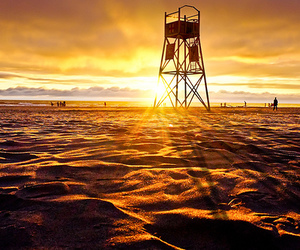 beach, light, and sand image