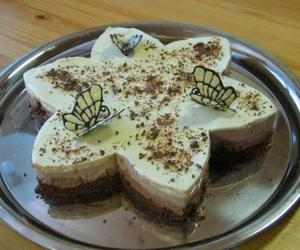 butterfly, cute, and mousse cake image