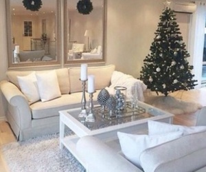 christmas, white, and interior image