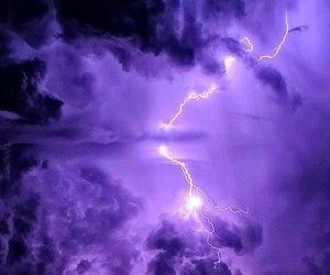 purple, sky, and clouds image