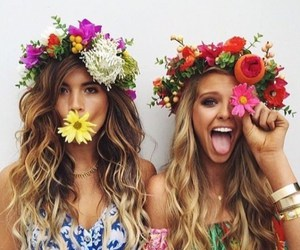 flowers, friends, and friendship image