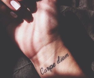 carpe diem and tattoo image