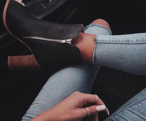 boots, heels, and denim image