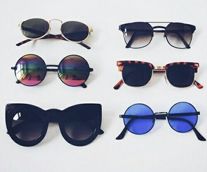 sunglasses, vintage, and beauty image