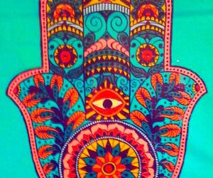 evil eye, hamsá, and hand image