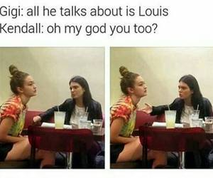 funny, louis tomlinson, and gigi hadid image