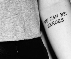 b&w, phrases, and Tattoos image